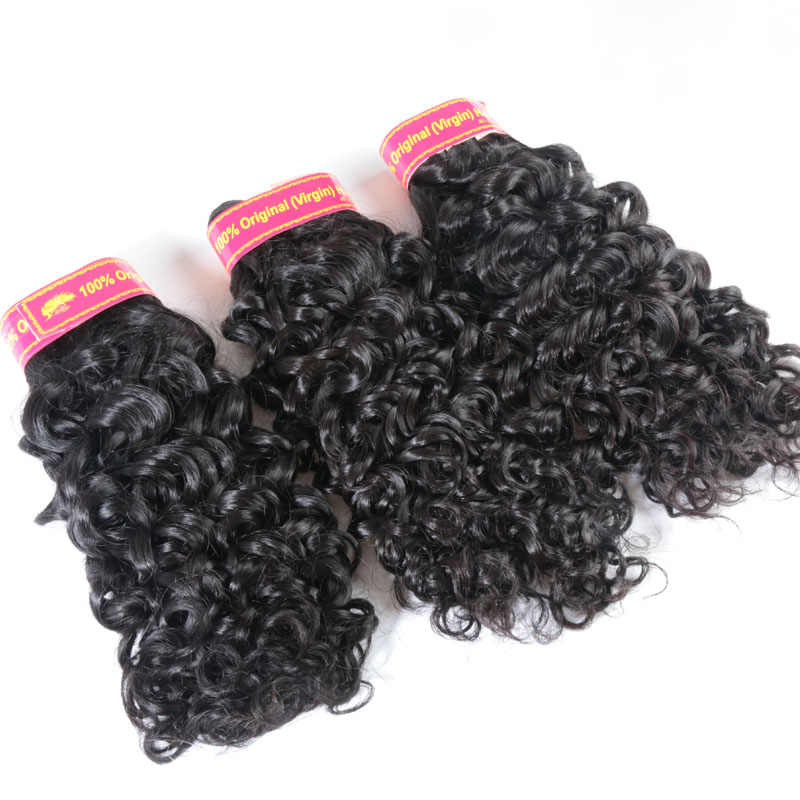 Addbeauty пучки волнистые Реми человеческие бразильские волосы плетение волос для наращивания дюймов 1/3/4 двойное машинное переплетение естественно вьющиеся Цвет