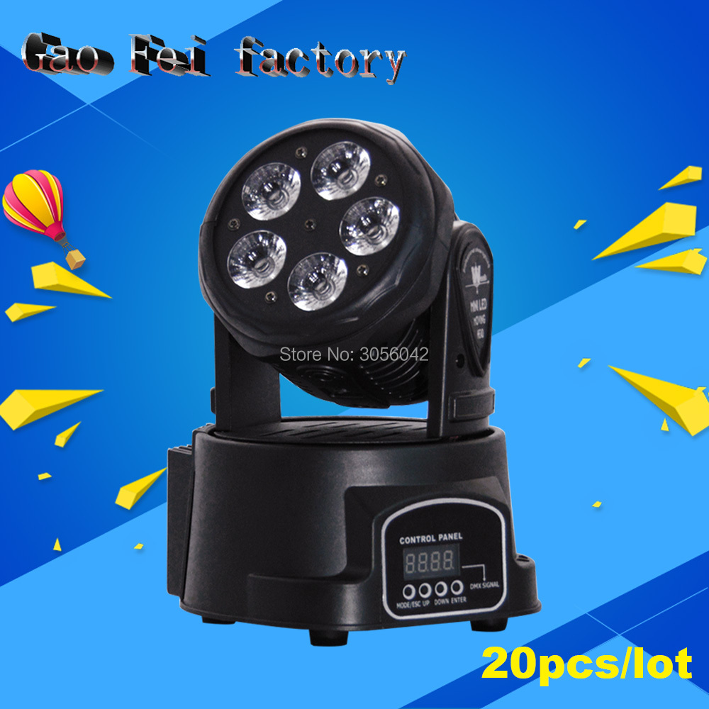 20pcs/lot LED Moving Head Mini stage 5*15W RGBWA+UV 6in1 360 degree Moving Rotating wash light Disco Club DJ party DMX20pcs/lot LED Moving Head Mini stage 5*15W RGBWA+UV 6in1 360 degree Moving Rotating wash light Disco Club DJ party DMX