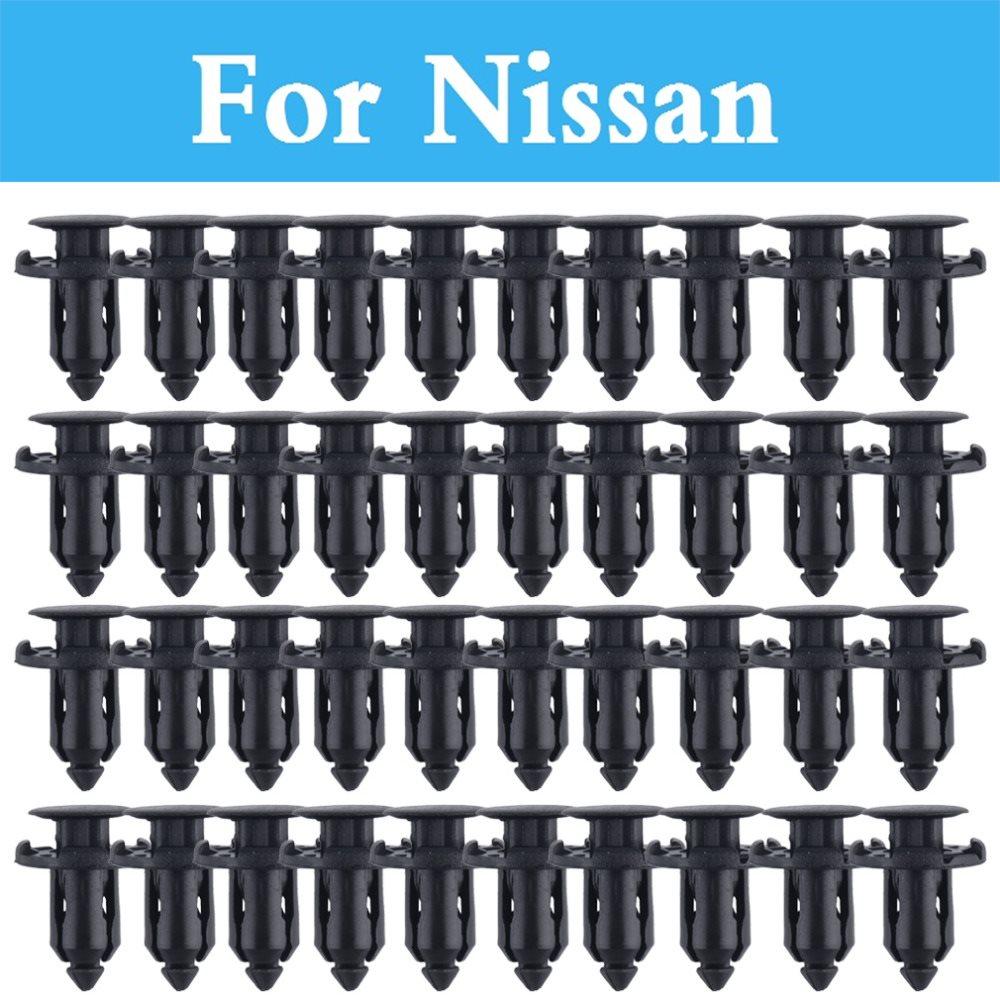 9mm Hole Car Parts Panel Trim Clips Rivet Fastener For Nissan Sylphy Cedric Cima Crew Dualis Expegloria Gt-R Juke Bluebird