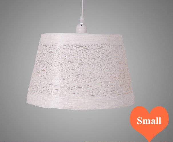 Chinese retro handwoven wicker white Pendant Lights Southeast Asia minimalist E27 LED small lamp for porch&parlor&stairs LHDD007 southeast asia style hand knitting bamboo art pendant lights modern rural e27 led lamp for porch