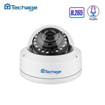 H.265 4MP 5MP 48V POE กล้อง IP 2.8 มม.โดมในร่มกลางแจ้งกล้องวิดีโอบันทึกเสียง P2P ONVIF กล้องวงจรปิดความปลอดภัยการ