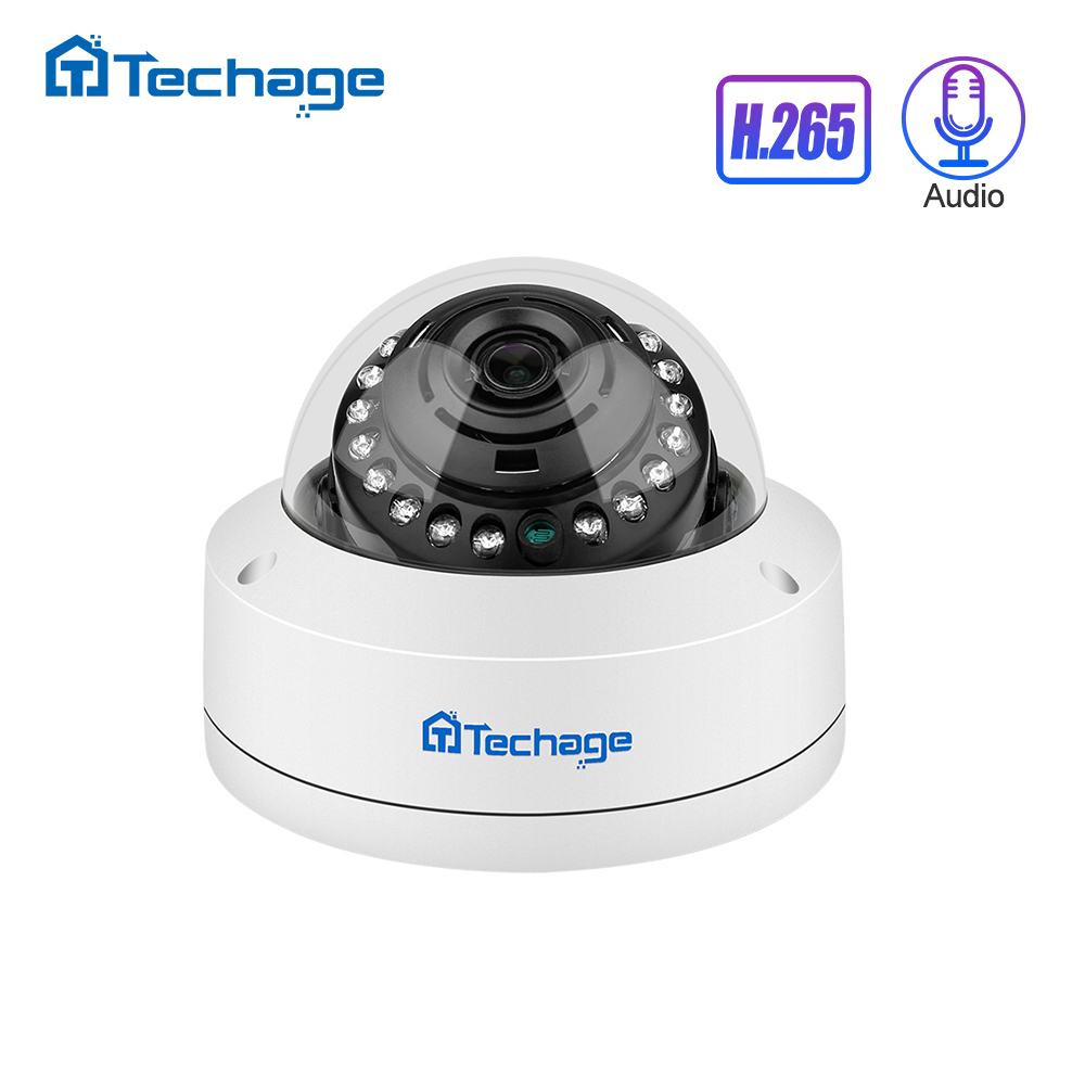 H.265 4MP 5MP 48V POE IP Camera 2.8mm Dome Indoor Outdoor VandalProof Audio Record P2P ONVIF CCTV Security Video Surveillance