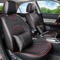 Asiento de coche compatible con para Renault Fluence accesorios fundas de asiento delantero y trasero completo PU cubierta de cuero del amortiguador asientos con reposacabezas