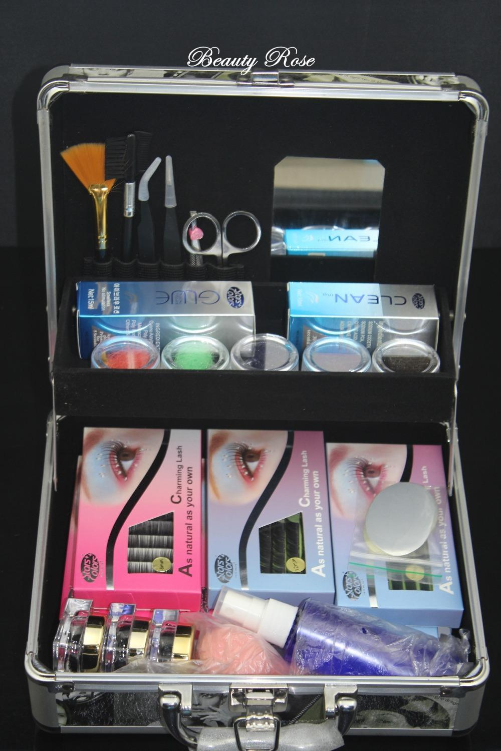 Top Sale Professional Korea Eyelash Grafting False Eyelashes Extension Full Set Lashes and Eyelash Glue Makeup Kits with Case*