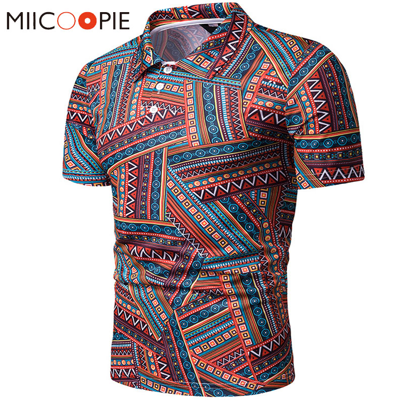Summer Men   Polo   Shirt 2019 New Men Casual Nationality Style Printed Short Sleeve   Polo   Homme De Marque Haute Qualite Camisa   Polo