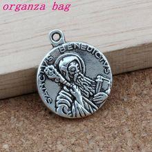 Religious Godfather cross Charm Pendants 50Pcs/lot Antique silver Fashion Jewelry DIY Fit Bracelets Necklace 17.8x21.5mm A-375