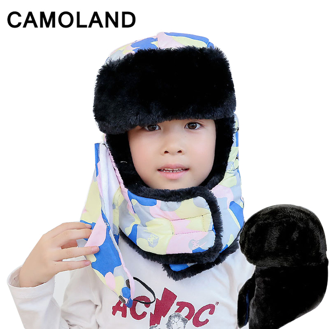 Winter Bomber Hats family Kids cap Ushanka Russian Hat earflap snow  Balaclava Warm Face Mask Snow gorras Outdoor Soviets aviator 0a1e5d9d704