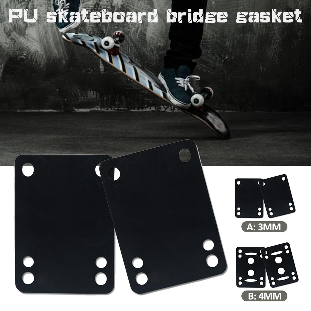 Soft Skateboard 3mm/4mm Rubber Gasket High Quality Shock Long Plate Cushion Pads 75*54mm Gasket Heighten Avoid Shock Parts