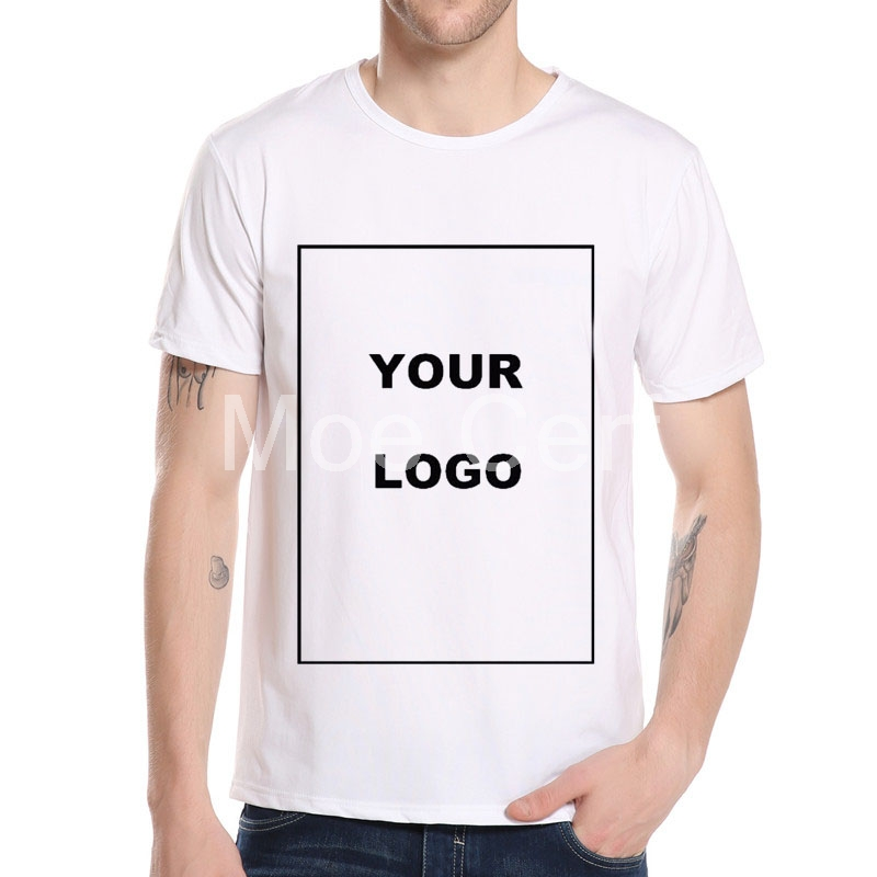 MOE CERF Customized Men's   T     Shirt   Print Your Own Design High Quality Send Out In 3 Days White Color