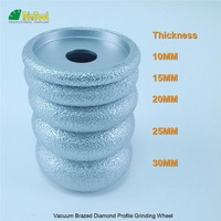 5pcs Dia75mm 10 15 20 25 30MM Vacuum Brazed Diamond CONVEX Wheel For Stone Artificial Stone