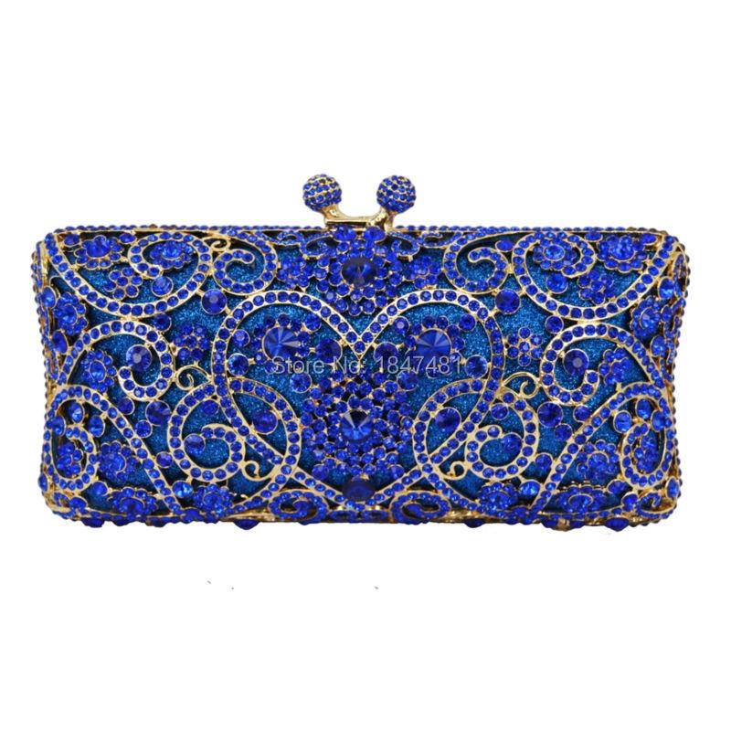 ФОТО LaiSC heart shape flower clutch bag full crystal dinner bag diamond party clutches women wedding purse luxury evening bags SC123