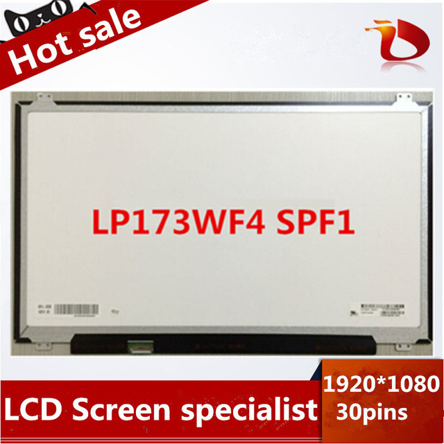 "Original New LP173WF4 SPF1 LCD Screen 17.3"" IPS led panel display 1920*1080 30pins"
