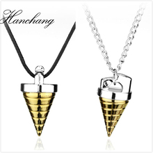 Anime Gurren Lagann Core Drill Tengentoba Gulenlagan KINON Tengen Toppa Pendants Necklace Jewelry Gift