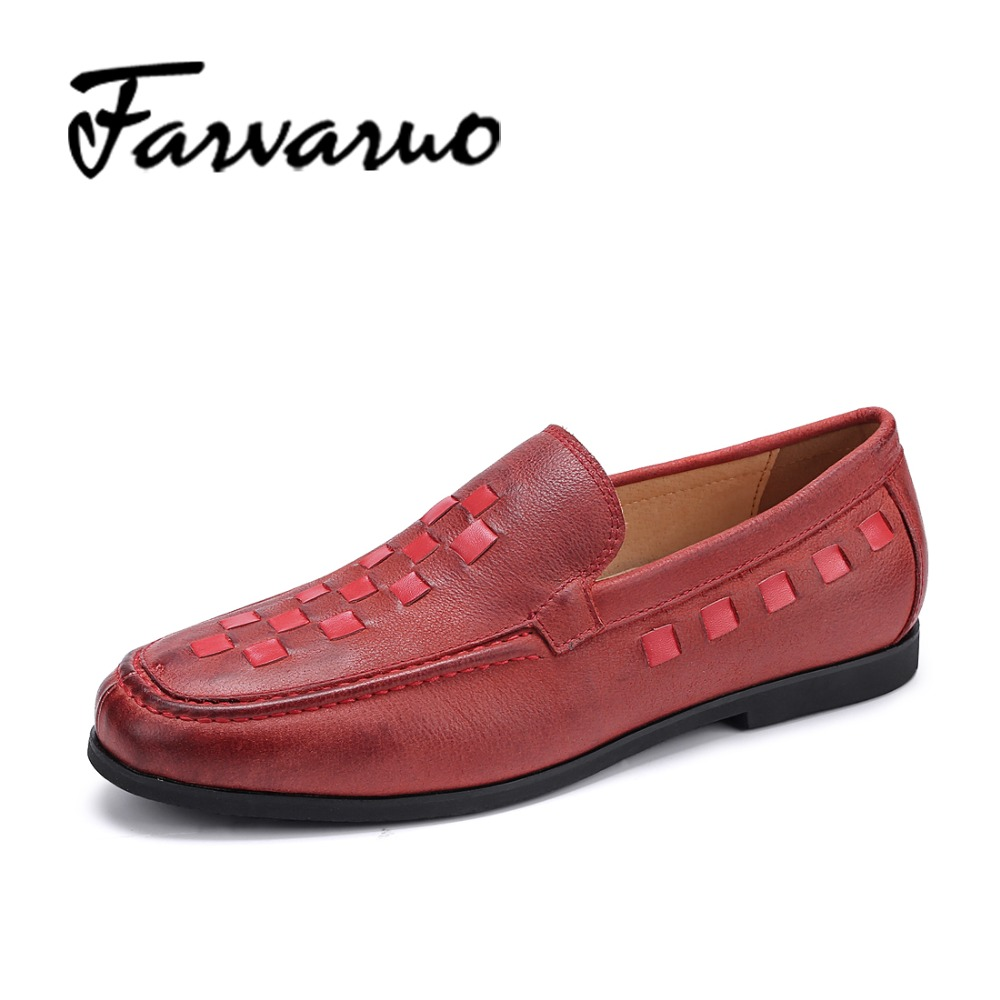Farvarwo Genuine Leather Men Casual Leisure Shoes 2017 Breathable Slip-On Mocassins Driving Shoes Man Luxury Brand Flats Loafers farvarwo genuine leather alligator crocodile shoes luxury men brand new fashion driving shoes men s casual flats slip on loafers