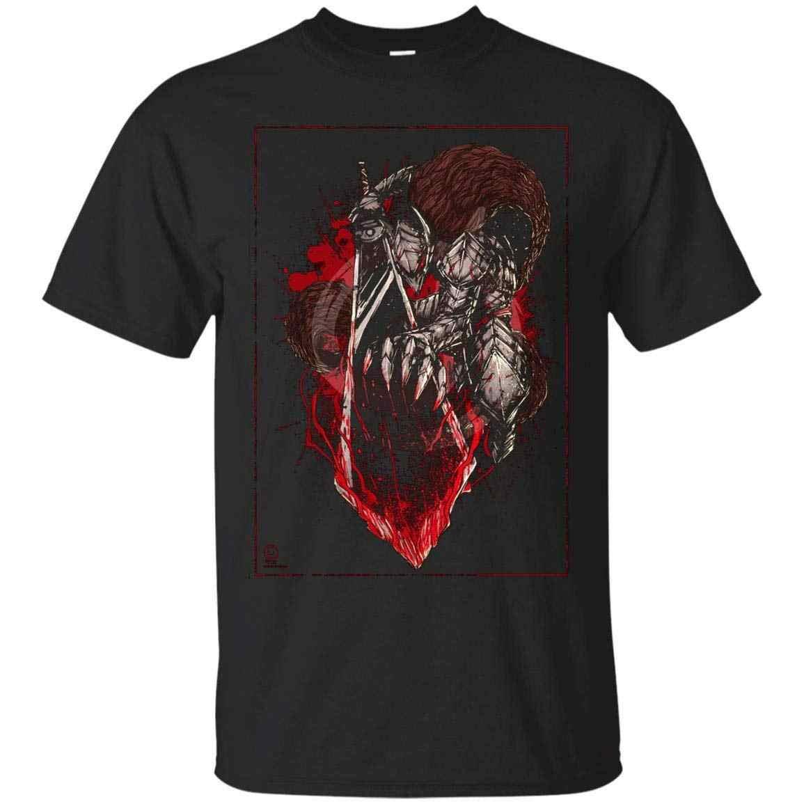 Футболка с героями аниме «Berserk-Guts Armor», «Dragon Slayer», «Berserk», ультрахлопковая футболка, распродажа, новая модная летняя футболка