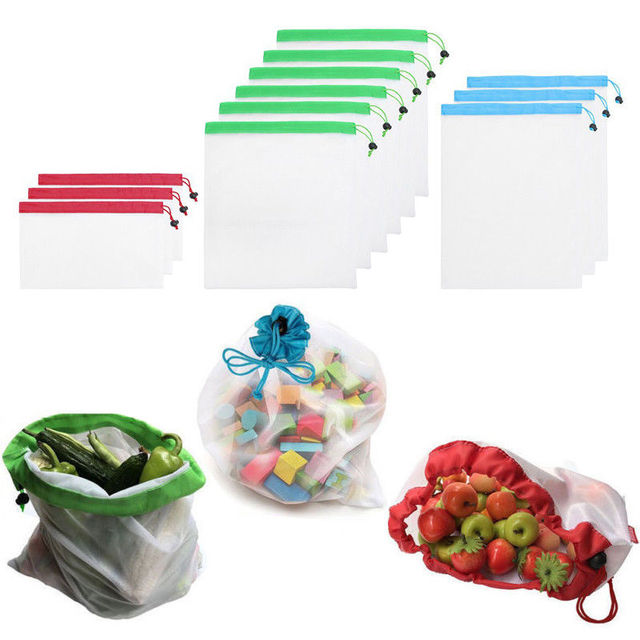 a015e18f860e US $8.1 52% OFF|12pcs/set Reusable Storage Mesh Bag Portable Fruit  Vegetable Produce Keep Fresh Bags for Grocery Shopping Toys Gift Pouch-in  Other ...