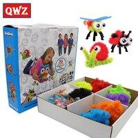 QWZ 400 Pcs Bricks Accessories DIY Puff Ball Toys Education Assembling Building Block For Children Baby