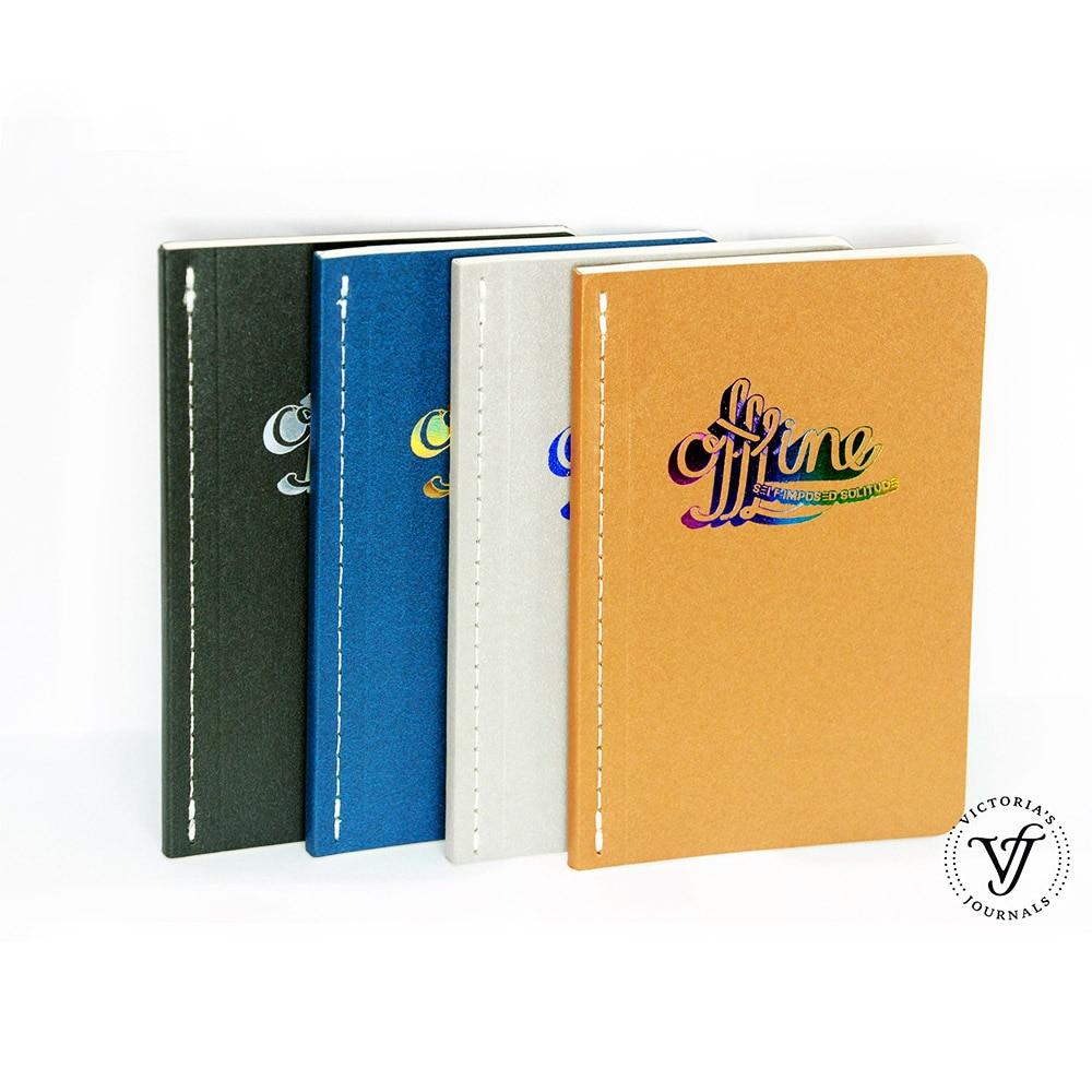 Victoria's Journals Notebook OFFLINE DIGITAL DETOX Gestippelde - Notitieblokken en schrijfblokken bedrukken