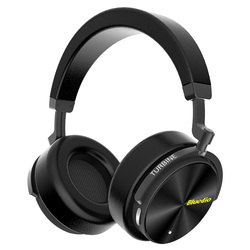 Bluedio T5 HiFi Active Noise Cancelling wireless bluetooth headphones Over ear headset with microphone for phones & music