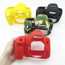 Мягкий чехол из силикона и резины Камера сумка защитный корпус чехол для Canon 100D 200D 6D 6D2 5D3 5D4 80D 650D 700D 800D 1300D 1500D 750D сумка