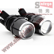 1pair Newest  Fog lamp projector 4300k color temperature universal headlight projector 1.8 inch projector lens on sale