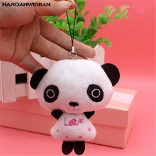 1PCS Mini Plush Panda Toys Small Pendant Kawaii Creative Cartoon Soft Stuffed Pandas Toy For Kids Children Festival Gifts 10CM