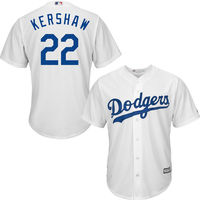 MLB Men S Los Angeles Dodgers Clayton Kershaw Majestic White Home Cool Base Player Jersey
