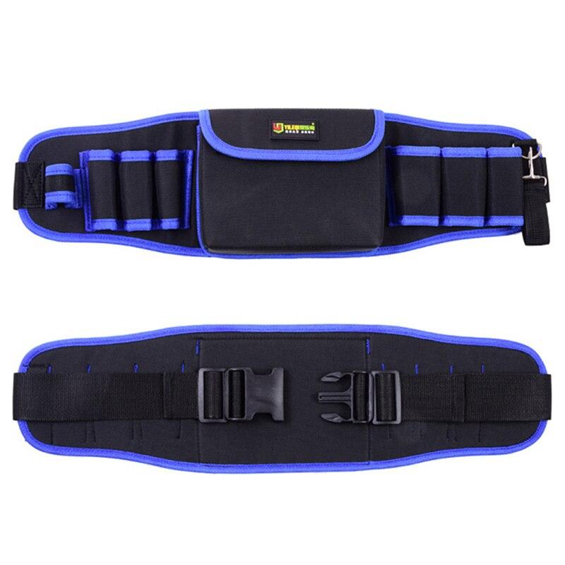 Купить с кэшбэком Electricians Adjustable Waist Pocket Belt Tool Bag Pouch Hammers Pliers Screwdriver Holder Storage Hand Repair Tool Organizer
