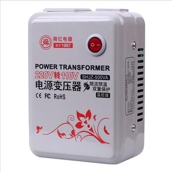 Fast Shipping SHJZ-500VA 220v to 110v 500W temperature control Step Down Voltage Converter Transformer Converts copper coil