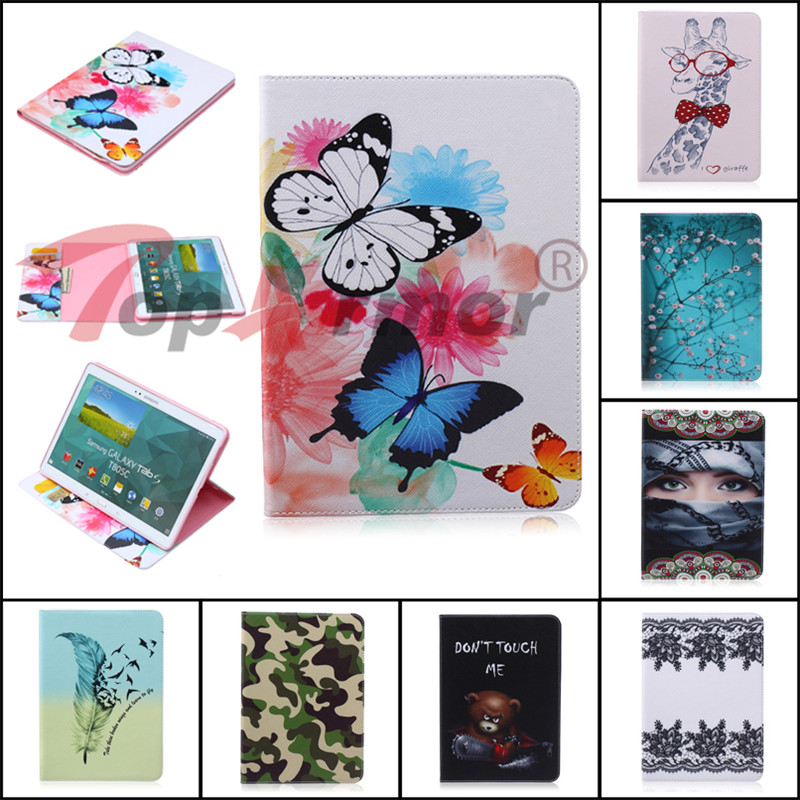 "11 styles Painted pattern PU Leather Cover For Samsung Galaxy Tab S 10.5 T800 T805c 10.5"" Smart Tablet Case Flip Anti skid Bags-in Tablets & e-Books Case from Computer & Office on AliExpress - 11.11_Double 11_Singles' Day 1"
