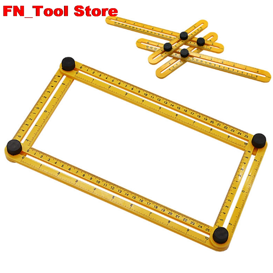 Multi-function plastic folding ruler Four-sided Measuring Tool Angle Finder Protractor Multi-Angle Ruler Layout Tool Angle RulerMulti-function plastic folding ruler Four-sided Measuring Tool Angle Finder Protractor Multi-Angle Ruler Layout Tool Angle Ruler