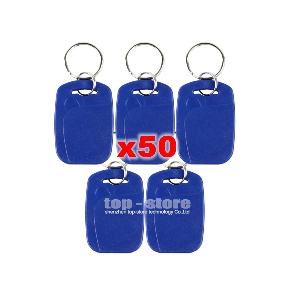 DIYSECUR 50pcs/lot Plastic125Khz RFID Card Keyfobs For Access Control System Or Other Smart RFID Reader Door Key diysecur 50pcs lot 125khz rfid card key fobs door key for access control system rfid reader use red