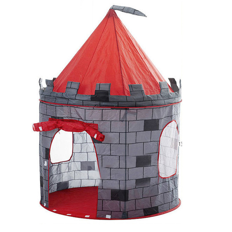 Large Play Tent Kids Toddlers Teepee Tunnel Children baby Cubby Playhouse gift