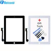 Netcosy Сенсорный экран планшета спереди touch Панель Стекло объектив для iPad 3/4 touch Экран заменяемой TP + инструмент Аксессуары
