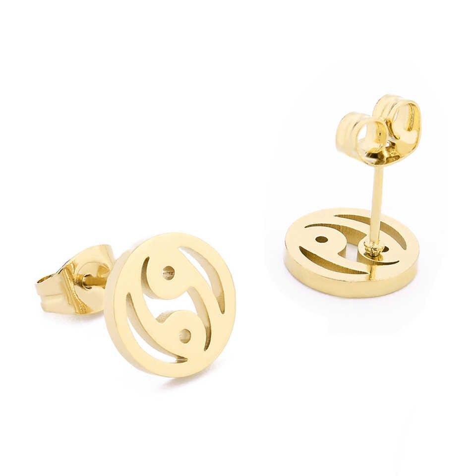 中国ゴシップ形状ペンダント & イヤリング女性ジュエリーゴールド色ステンレス鋼のネックレスのスタッドのイヤリングのアクセサリー