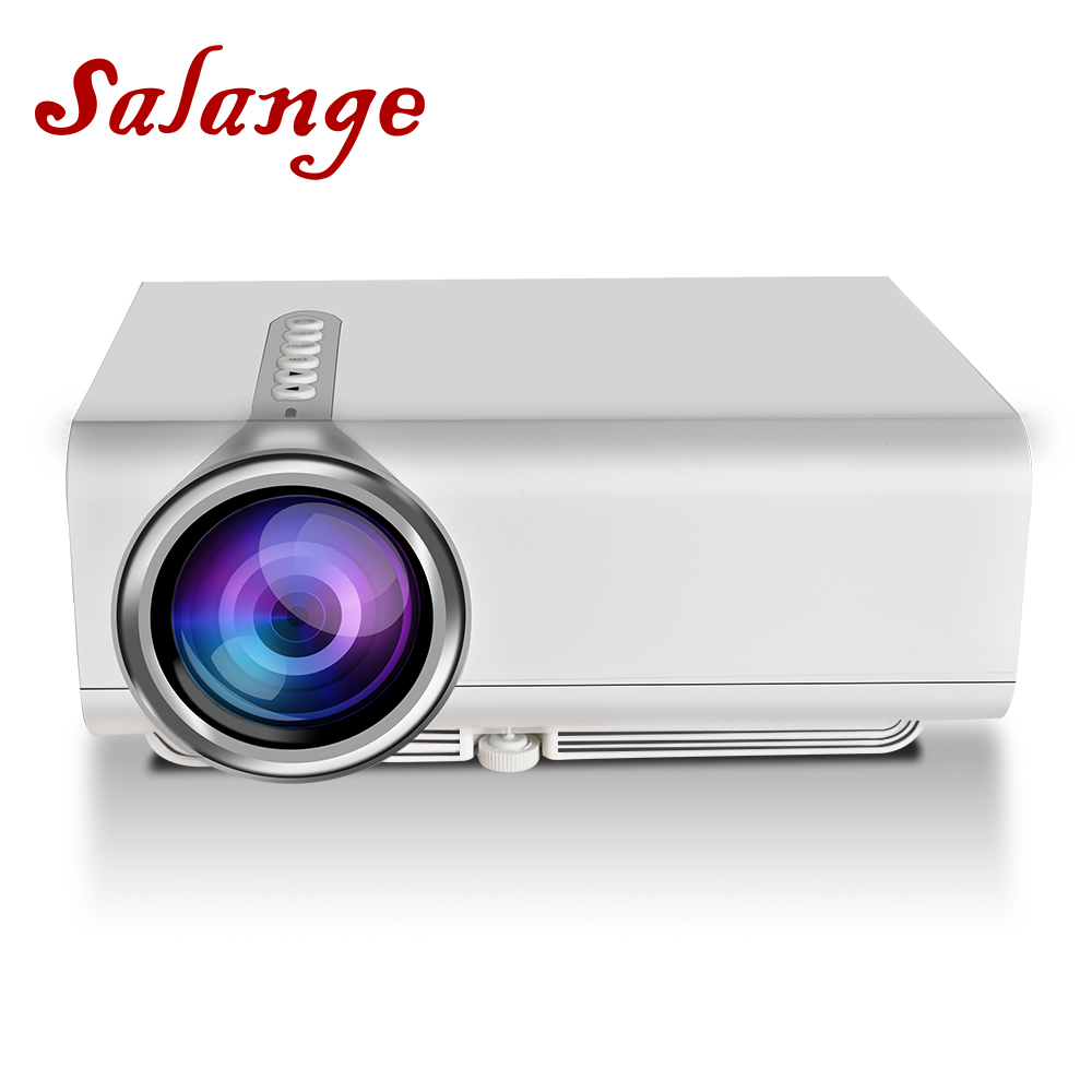 Salange YG520 Mini LED Projector Support 1920x1080, HDMI USB AV SD. Home Theater, Snyc display With Phone Movie Beamer Proyector