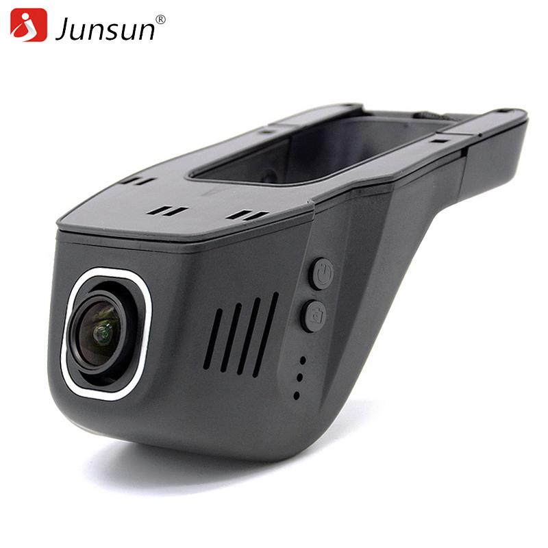 Prix pour Junsun Voiture DVR Caméra Vidéo Enregistreur WiFi APP Novatek 96655 IMX 322 dvr FHD 1080 p Registrator de Vision Nocturne Dash Cam
