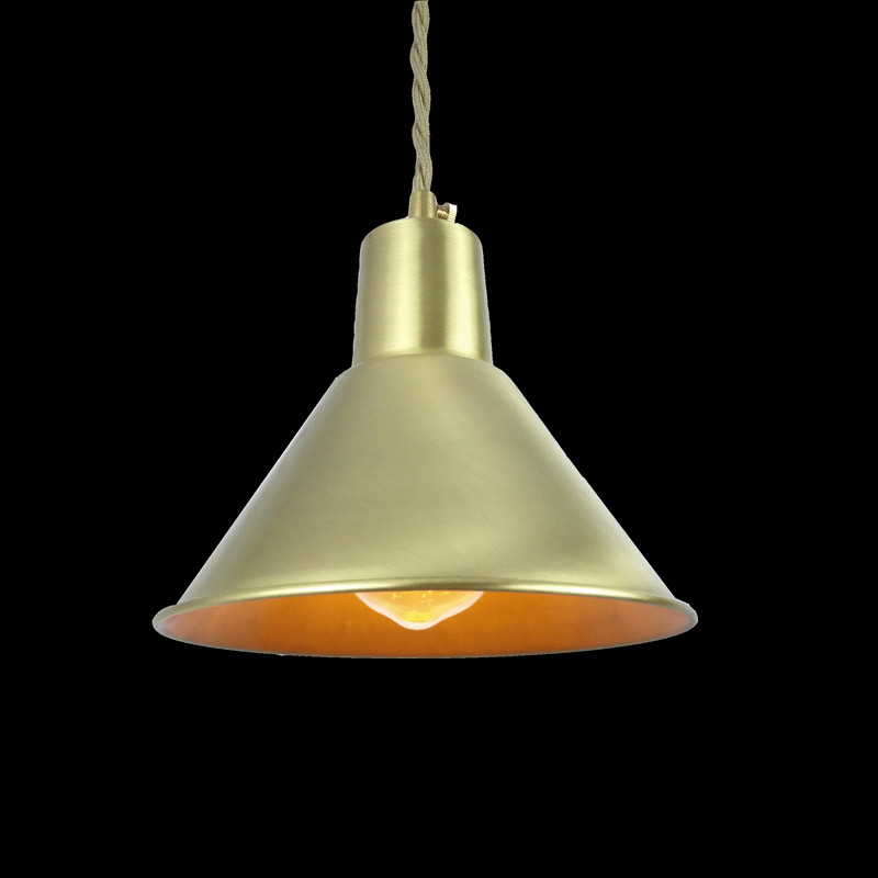 E27 brass socket D170mm copper lampshade fabric wire pendant lamp fixture brass lighting LED modern style for living room d200mm half white glass ball lampshade fabric wire pendant lamp fixture brass drop modern home lighting bedroom cafe decoration