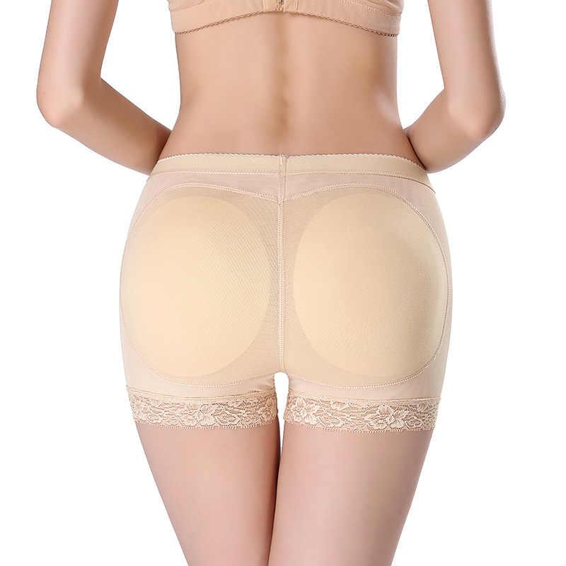 6836a990ef500 Womens Fake ASS Booty Padded Underwear Butt Hip Enhancer Lace Bodyshort Body  Shaper Seamless Butt Lifter