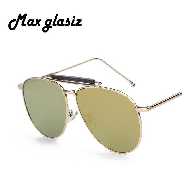 Flat Top Mirror Unisex Sunglass