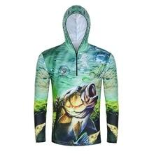 Летний ультра-светильник, анти-УФ рыболовные рубашки, УФ-защита, рыболовные футболки для мужчин и женщин, рубашки с принтом рыбы, FT0071-3