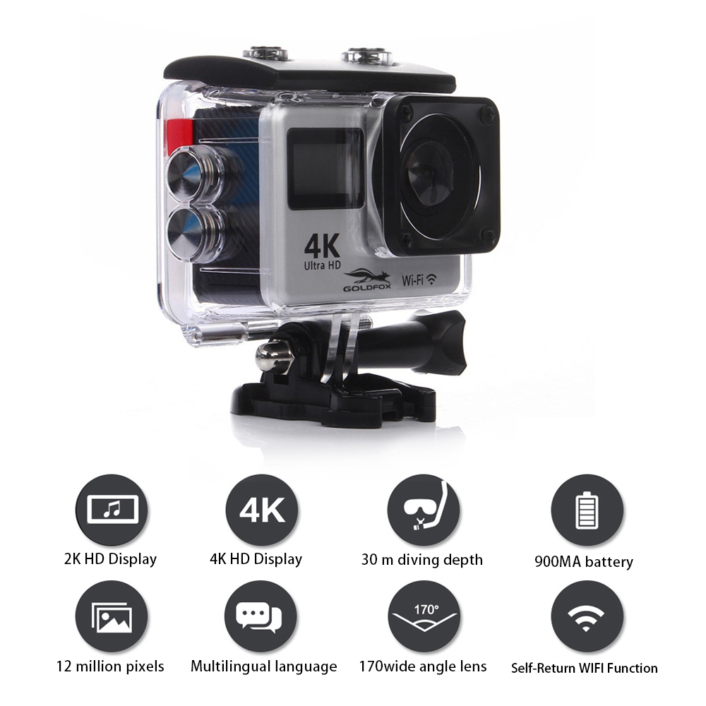 Image 5 - Ultra HD 4K Action Camera WiFi Remote Control Sports Video Camcorder DVR DV Go Waterproof Pro Camera 2 inch Touch Screen Cam-in Sports & Action Video Camera from Consumer Electronics