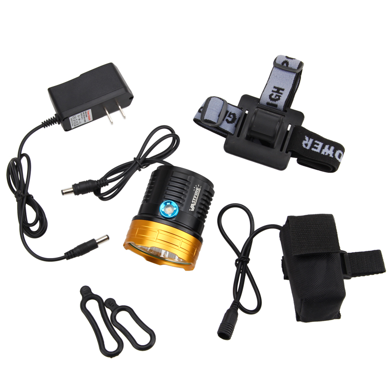 Hot Sale 15000Lm 9x XM-L2 LED Cycling Lights Bicycle light Bike Lamp Headlamp with Battery Pack hot sale 3x cree xml t6 led headlamp bike light 5000 lumen 18650 led head light 4x18650 battery pack charger bike rear light