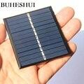 BUHESHUI 0 57 Вт 6 в модуль солнечной батареи поликристаллическая DIY Солнечная Панель зарядное устройство для 3 7 В батарея образования 70*60 мм Оптов...