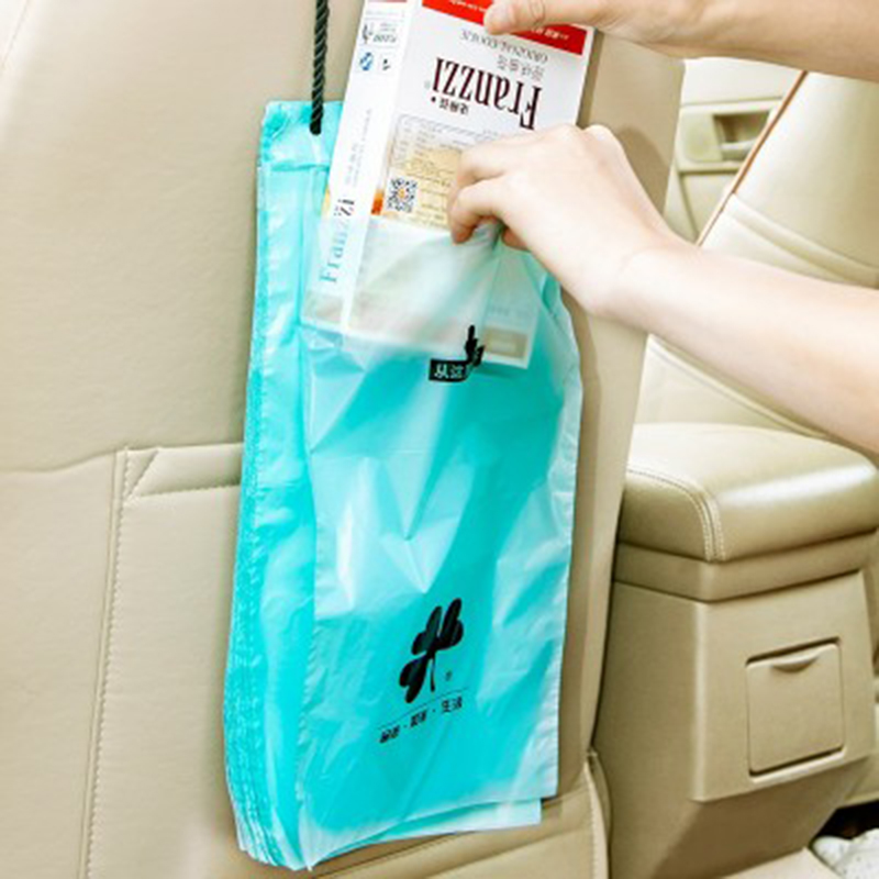50Pcs Plastic Auto Car Back Seat Hanging Storage Bag Mobile Phone Pocket Organizer Sealed Holder Accessory Trash Garbage In Bags From Home