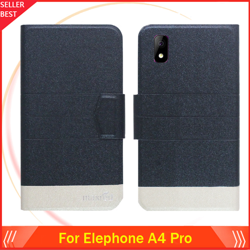 5 Colors Hot!! Elephone A4 Pro Case Ultra-thin Leather Exclusive Phone Cover Folio Book Card Slots Free Shipping