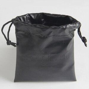 Image 2 - На заказ/оптовая печать логотипа маленький PU луч Карманный мешок ювелирных изделий