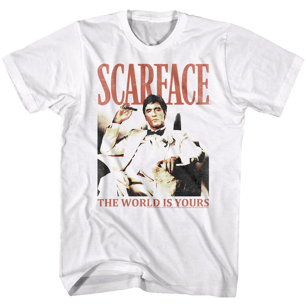 Scarface Movie CLASSIC POSTER The World is Yours Heather T-Shirt All Sizes