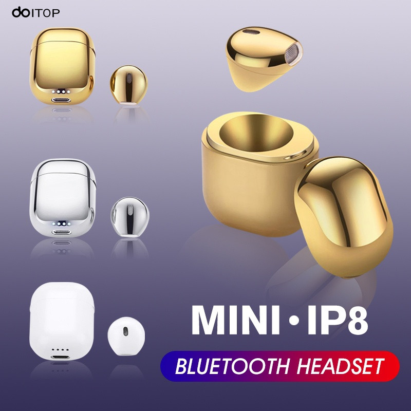 DOITOP IP8 Wireless Bluetooth Headset with Charging Box Handfree Mic Mini BT V4.2 Sport Stereo Music Earphone For iPhone Samsung