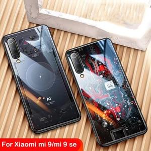 Image 1 - Роскошный чехол из закаленного стекла для Xiaomi Mi 9, чехол из ТПУ с мягкими краями для Xiaomi Mi 9 Mi9 se, чехол Aixuan